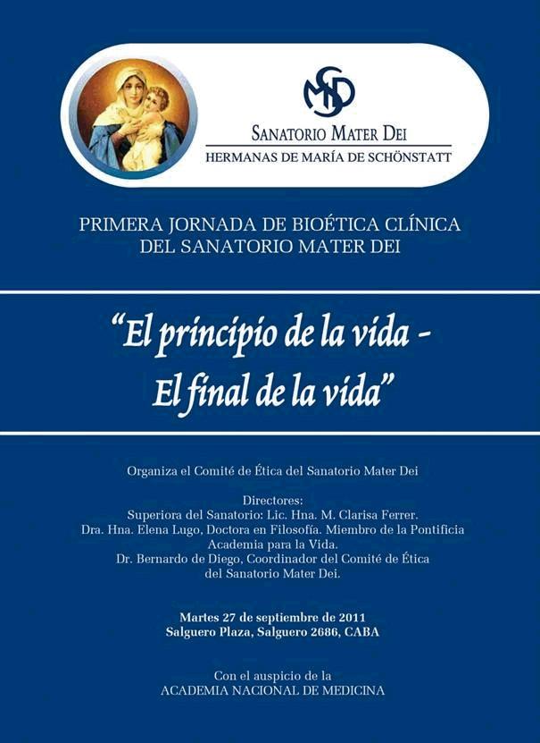 Primera Jornada de Bioética Clínica del Sanatorio Mater Dei