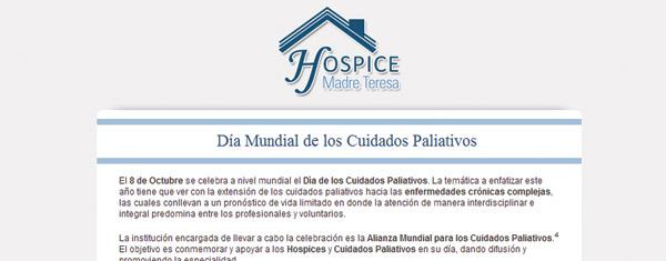 """8 de Octubre, """"Día Mundial de los Hospices y Cuidados Paliativos"""""""